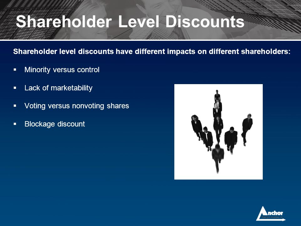 Shareholder Level Discounts