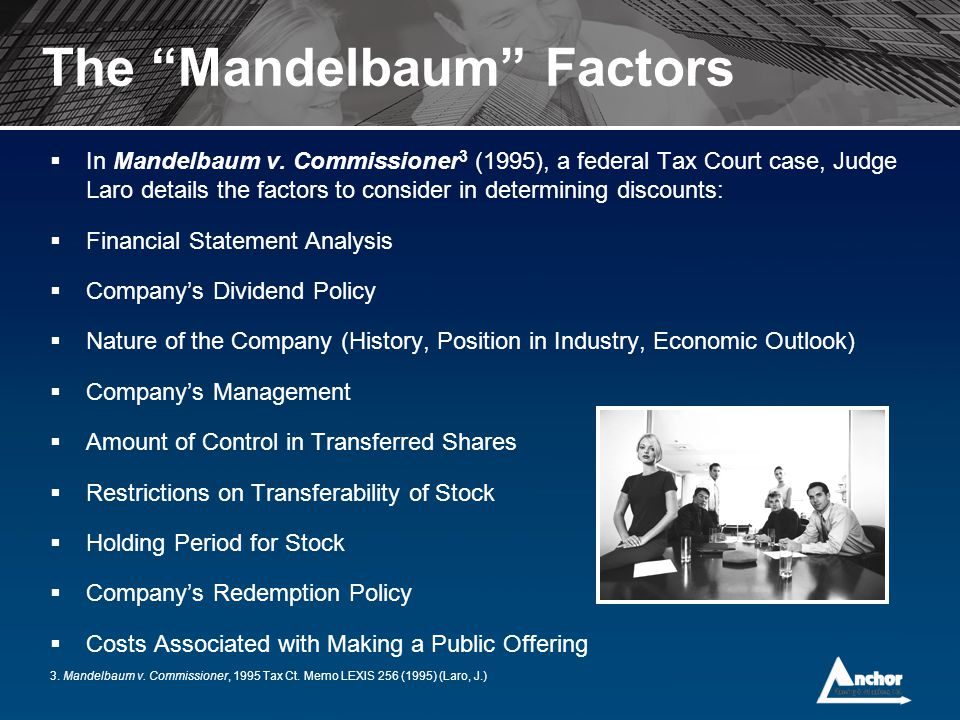 The Mandelbaum Factors