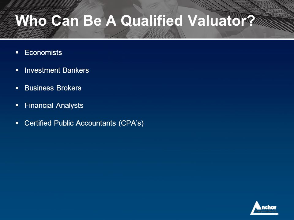 Who Can Be A Qualified Valuator