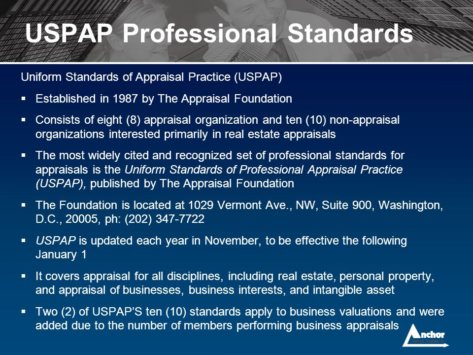 USPAP Professional Standards