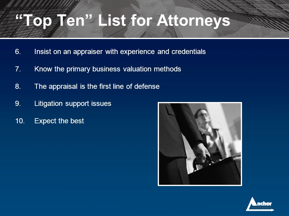 Top Ten List for Attorneys