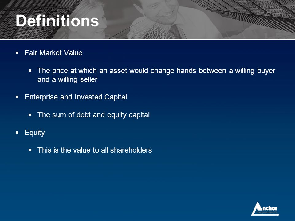 Definitions Fair Market Value