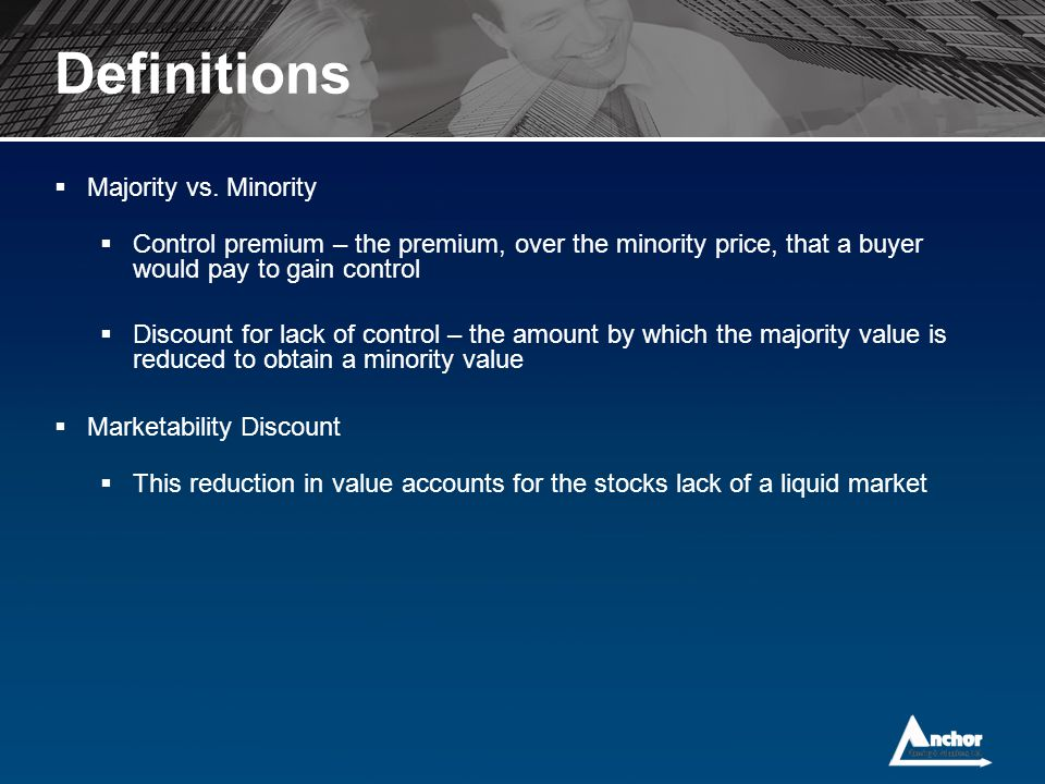 Definitions Majority vs. Minority