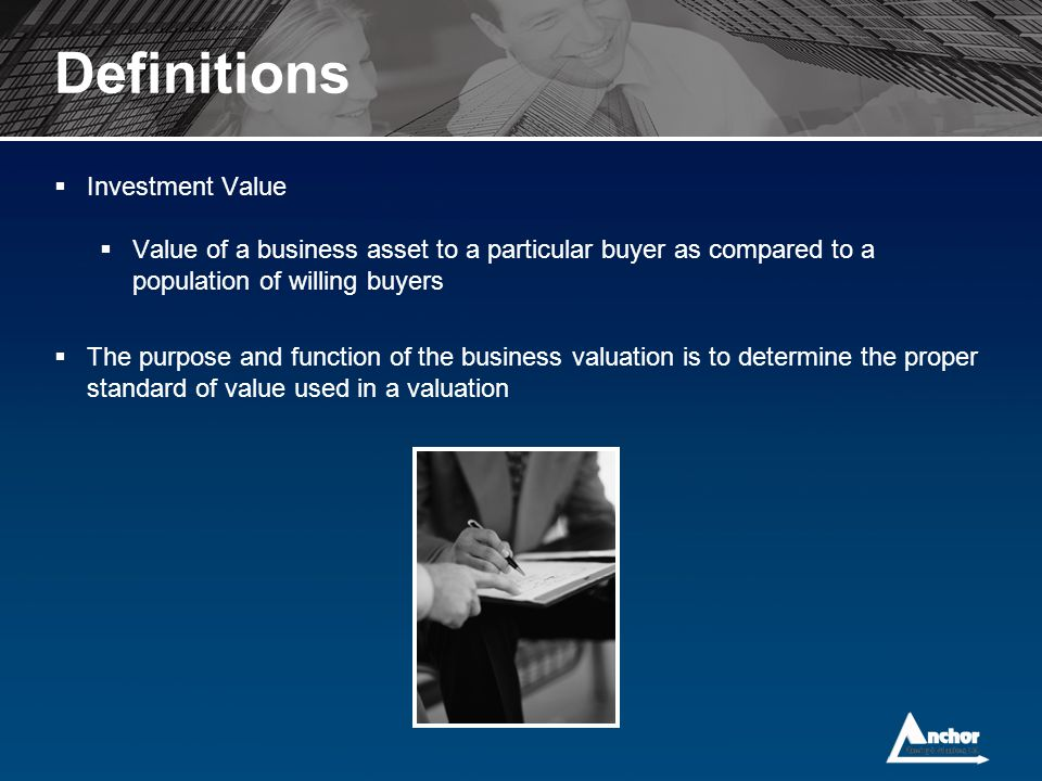 Definitions Investment Value