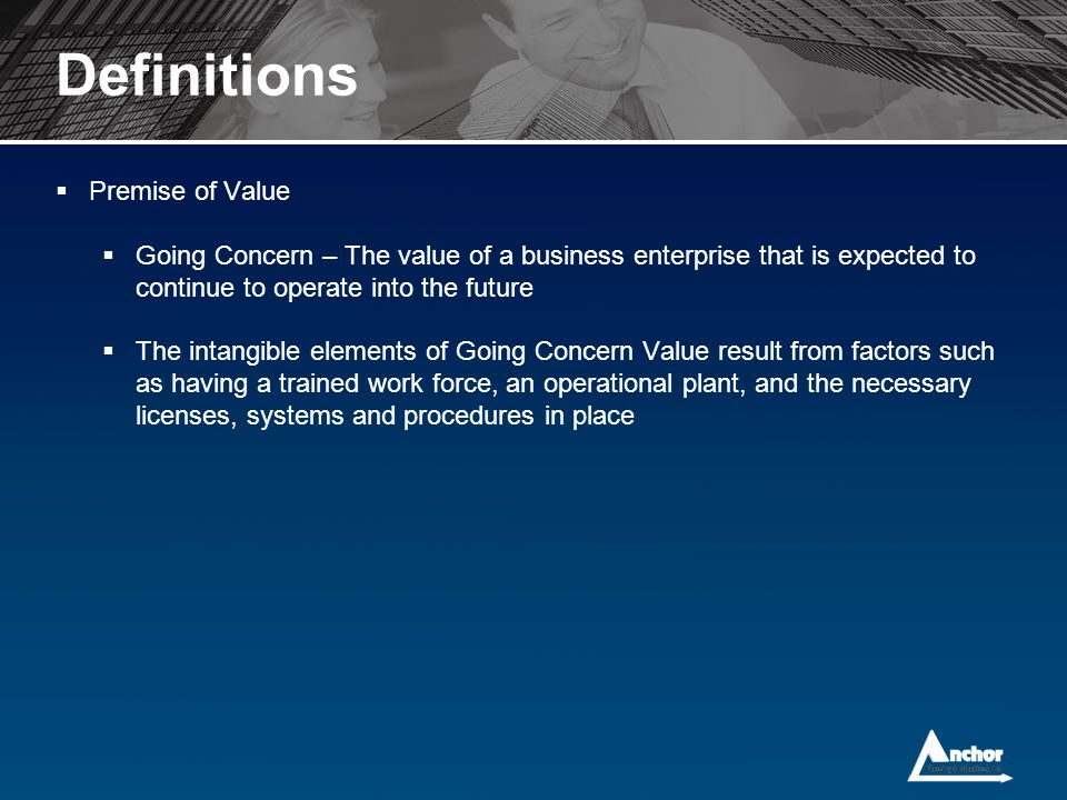 Definitions Premise of Value
