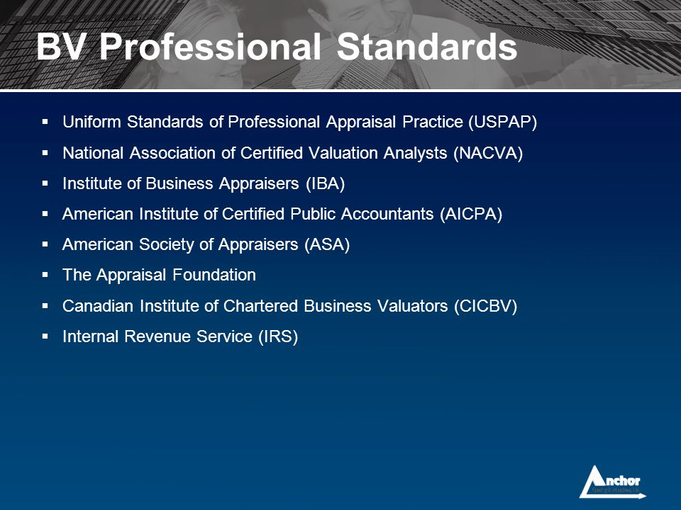 BV Professional Standards