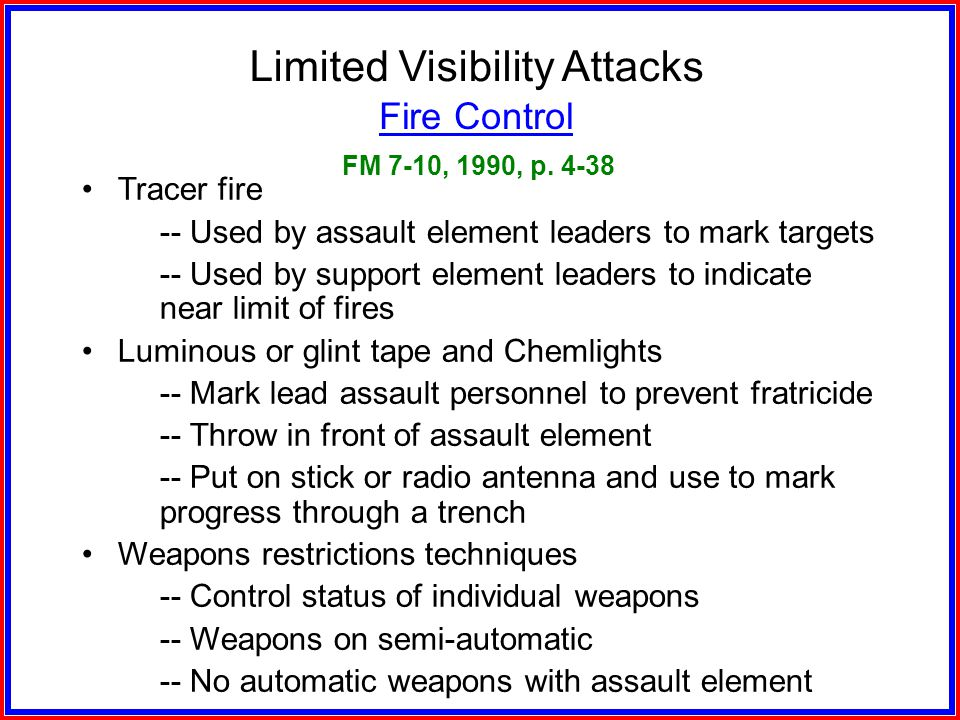 Limited Visibility Attacks