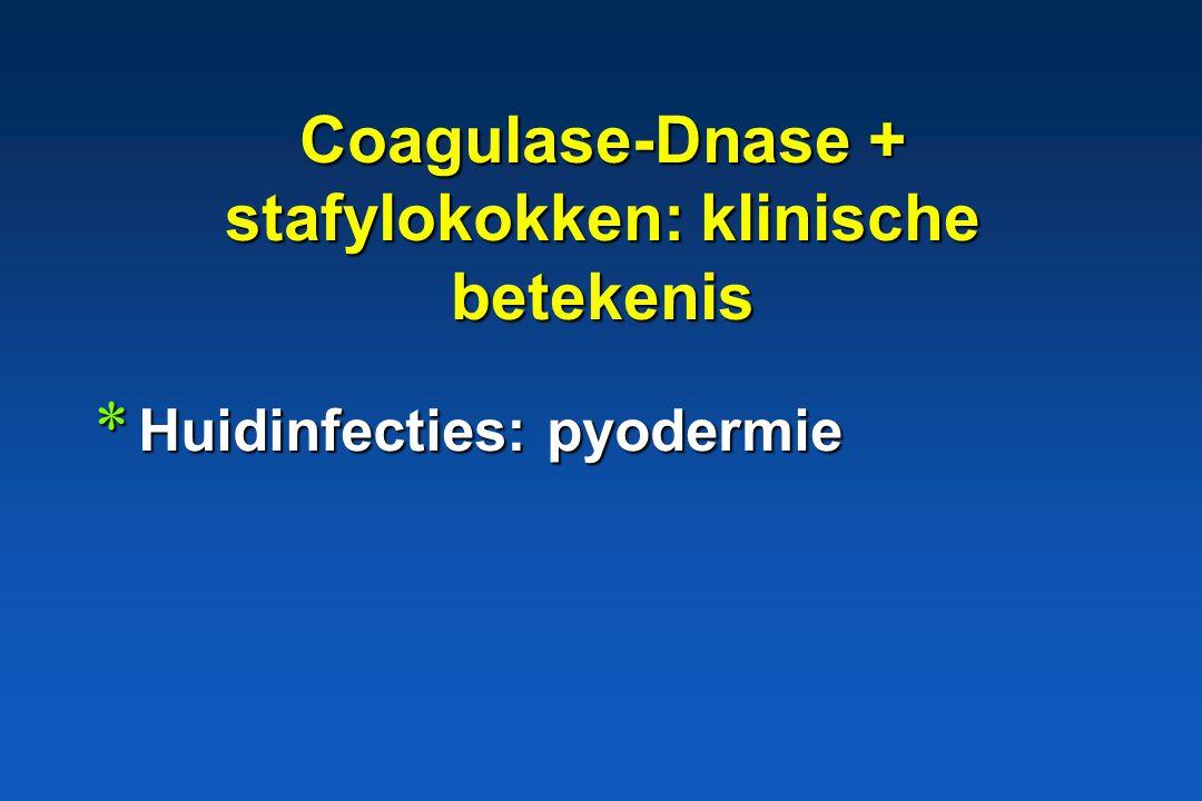 Coagulase-Dnase + stafylokokken: klinische betekenis