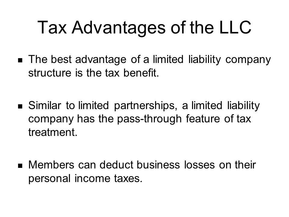 Tax Advantages of the LLC