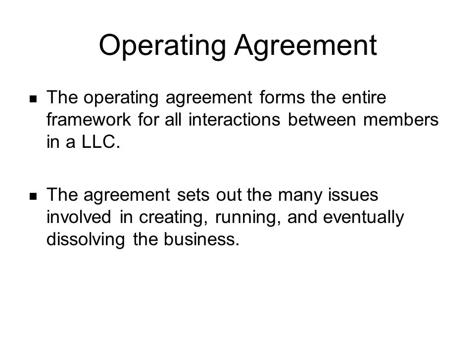 Operating Agreement Member Managed  Why Incorporate in