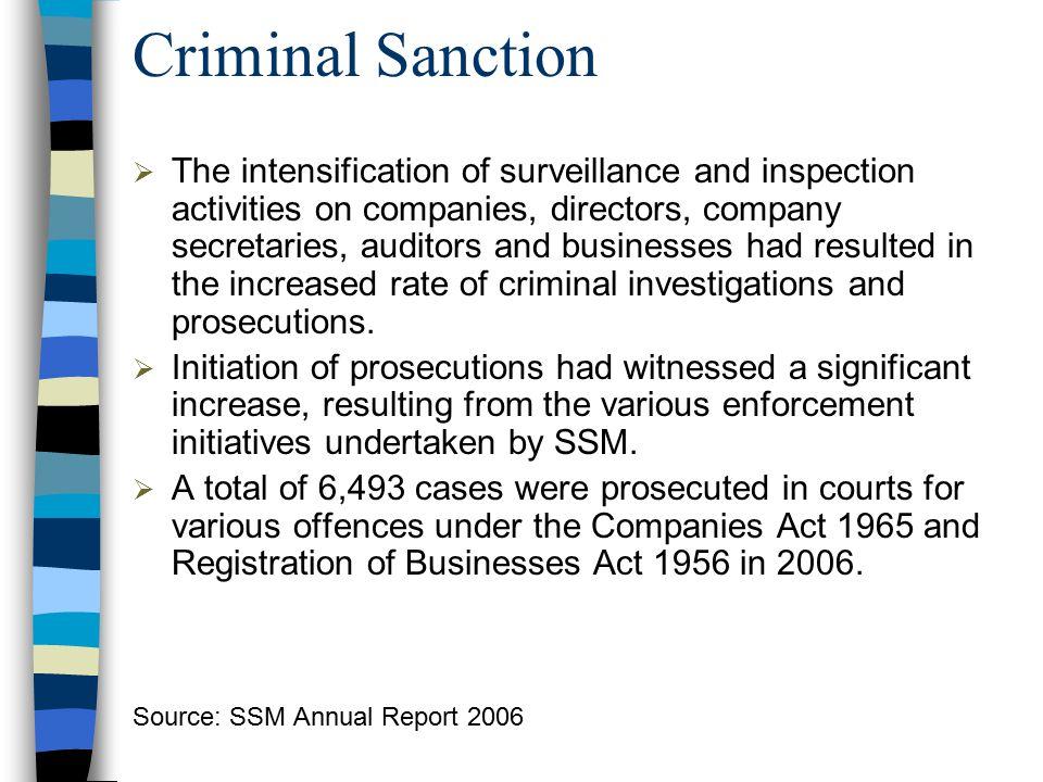 Criminal Sanction