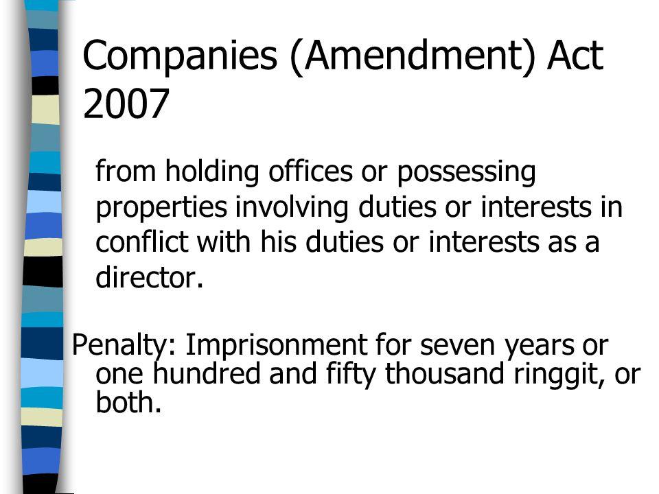 Companies (Amendment) Act 2007
