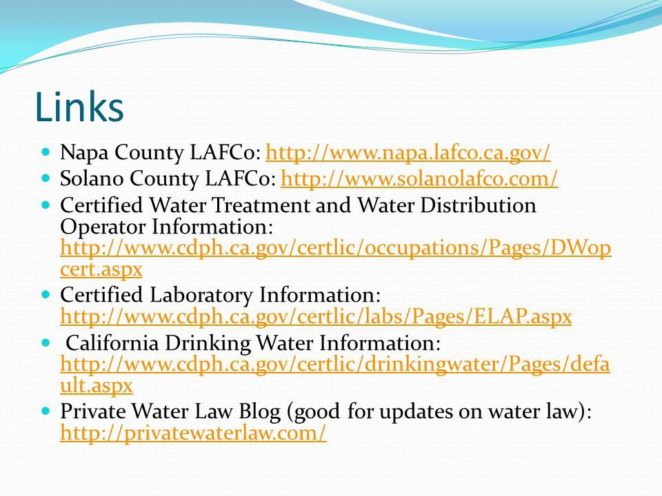 Links Napa County LAFCo: http://www.napa.lafco.ca.gov/