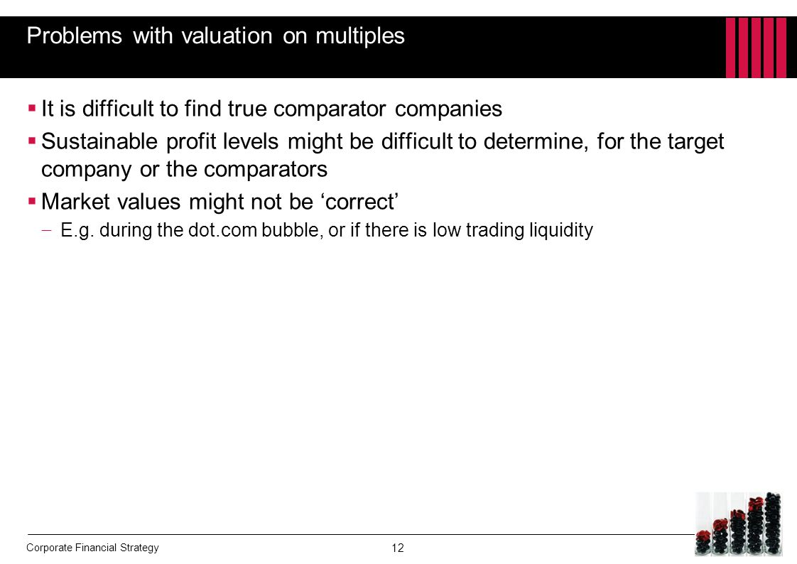 Problems with valuation on multiples