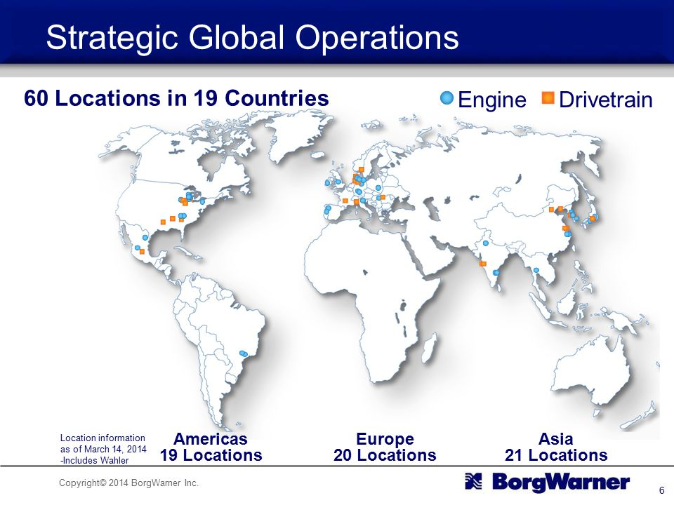 Strategic Global Operations