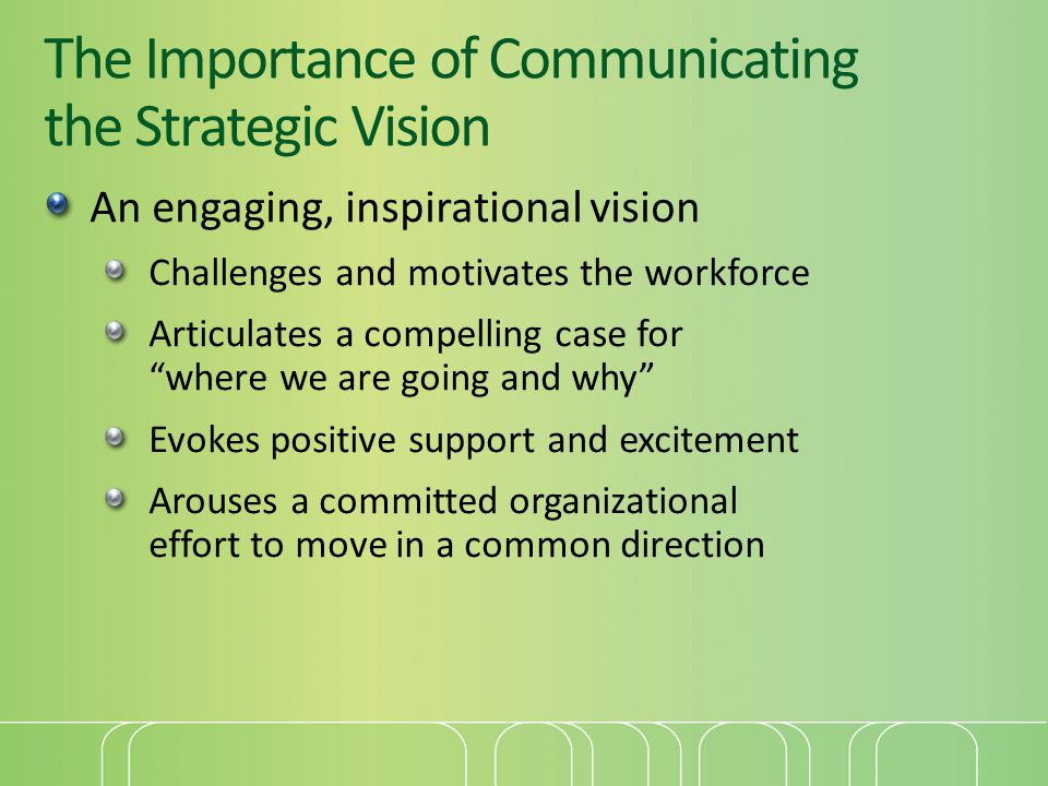 The Importance of Communicating the Strategic Vision