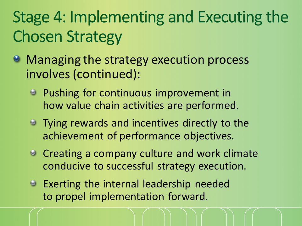 Stage 4: Implementing and Executing the Chosen Strategy