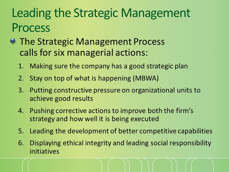 Leading the Strategic Management Process