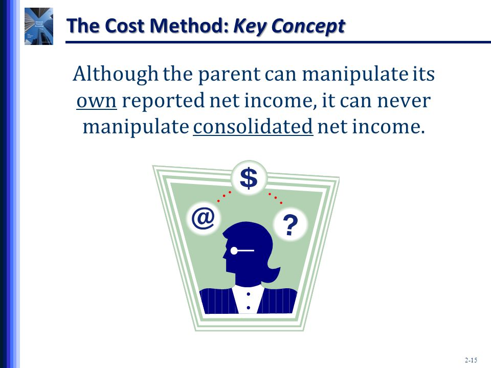 The Cost Method: Key Concept