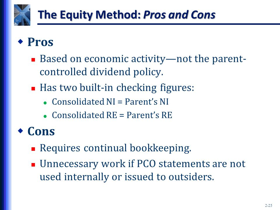 The Equity Method: Pros and Cons