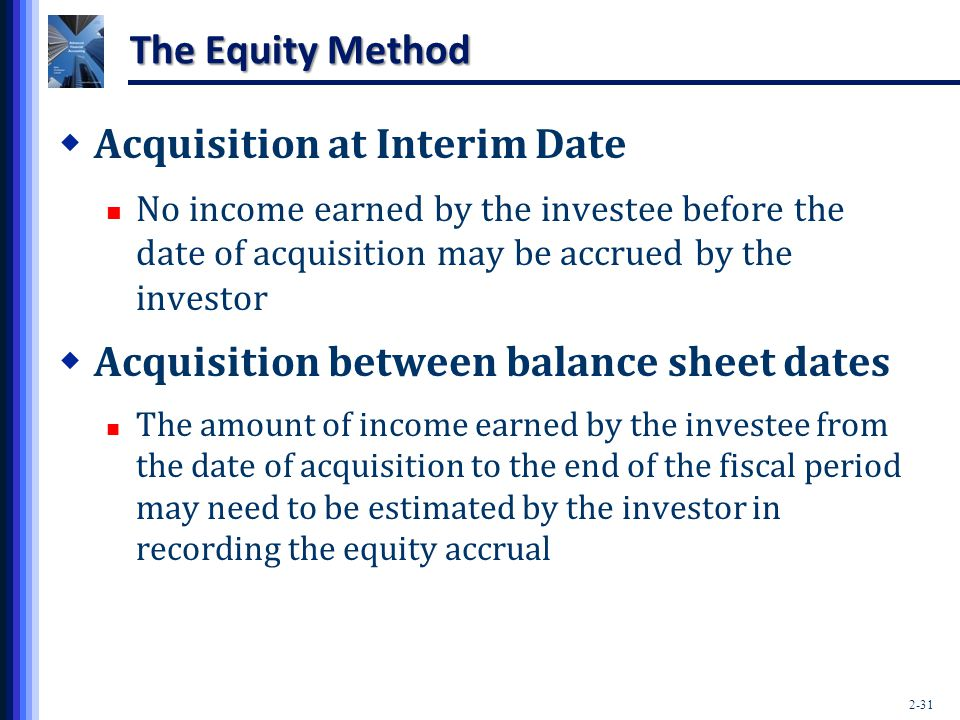 Acquisition at Interim Date