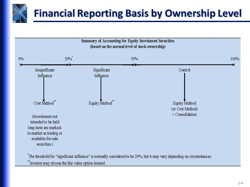 Financial Reporting Basis by Ownership Level