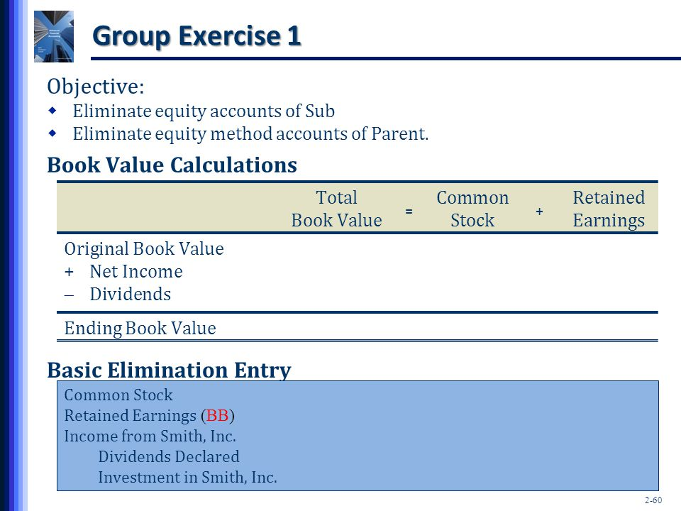 Group Exercise 1 Objective: Book Value Calculations