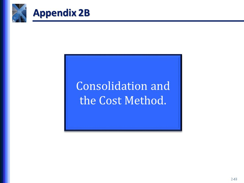 Consolidation and the Cost Method.