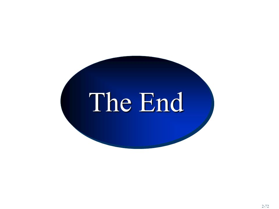 Conclusion The End 2-72