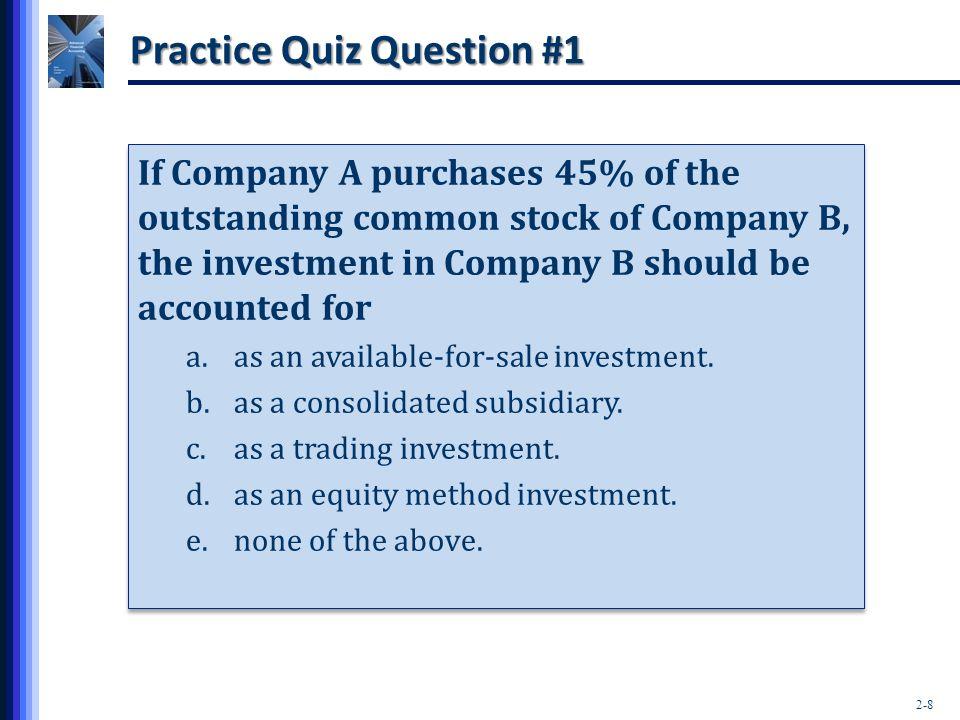 Practice Quiz Question #1
