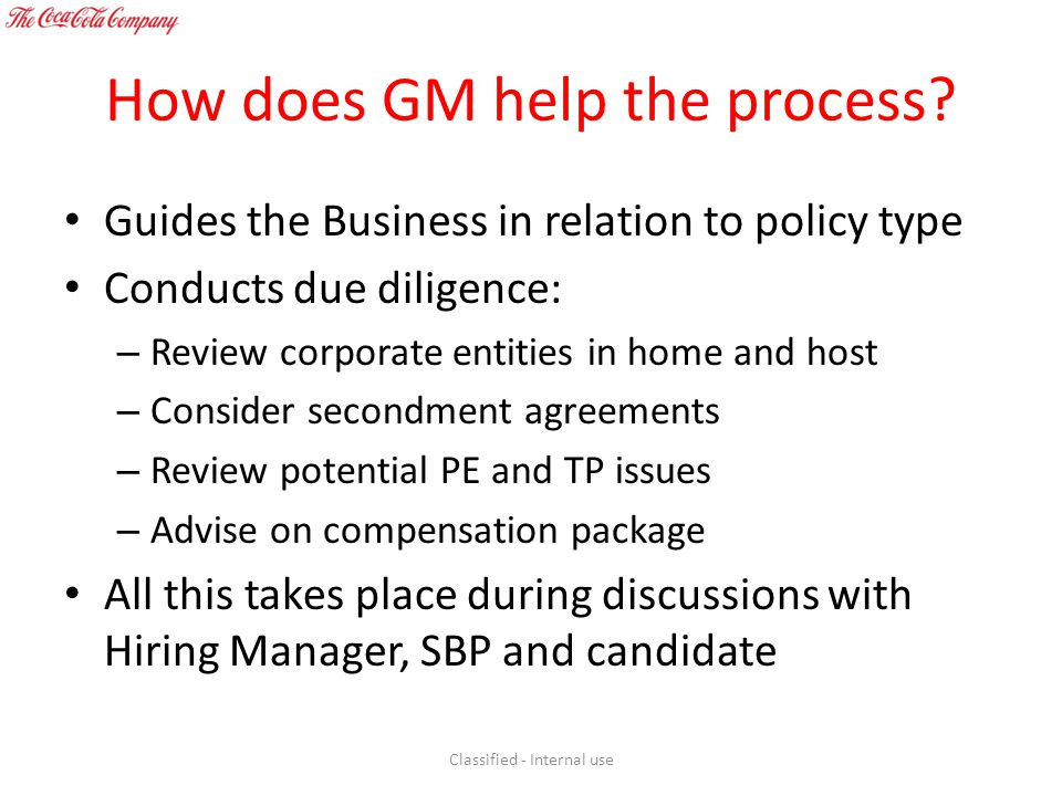 How does GM help the process