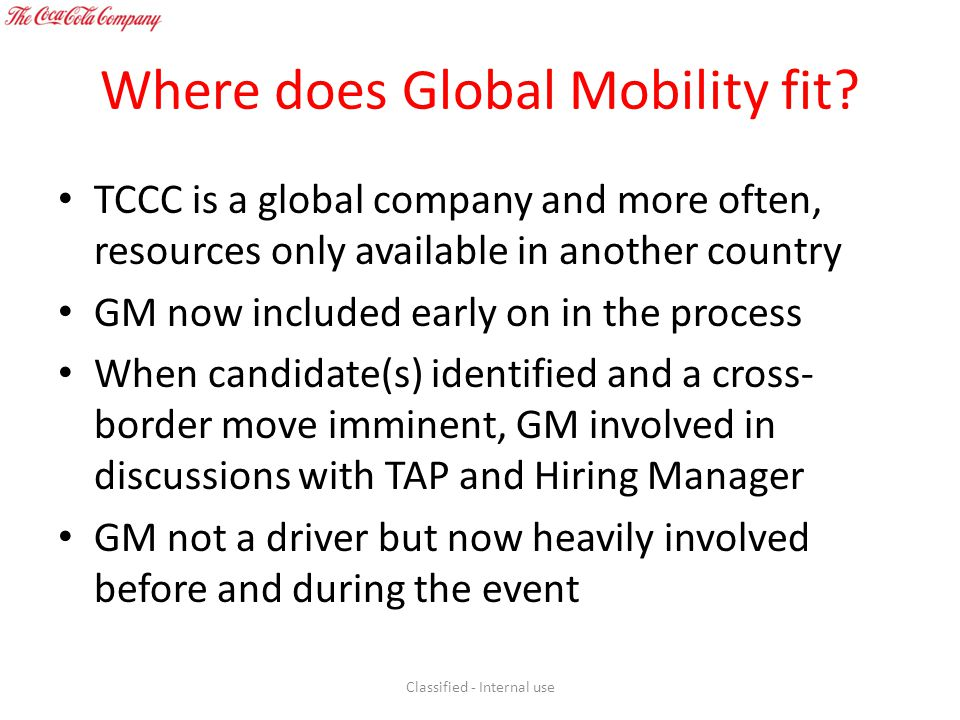 Where does Global Mobility fit