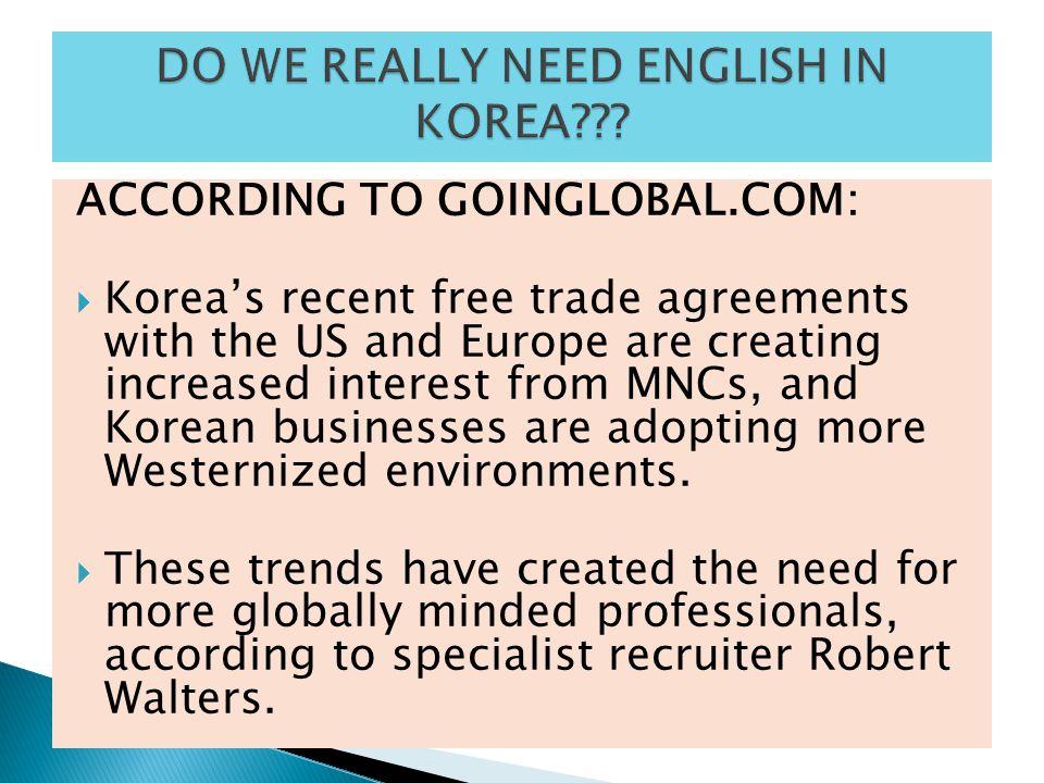 DO WE REALLY NEED ENGLISH IN KOREA