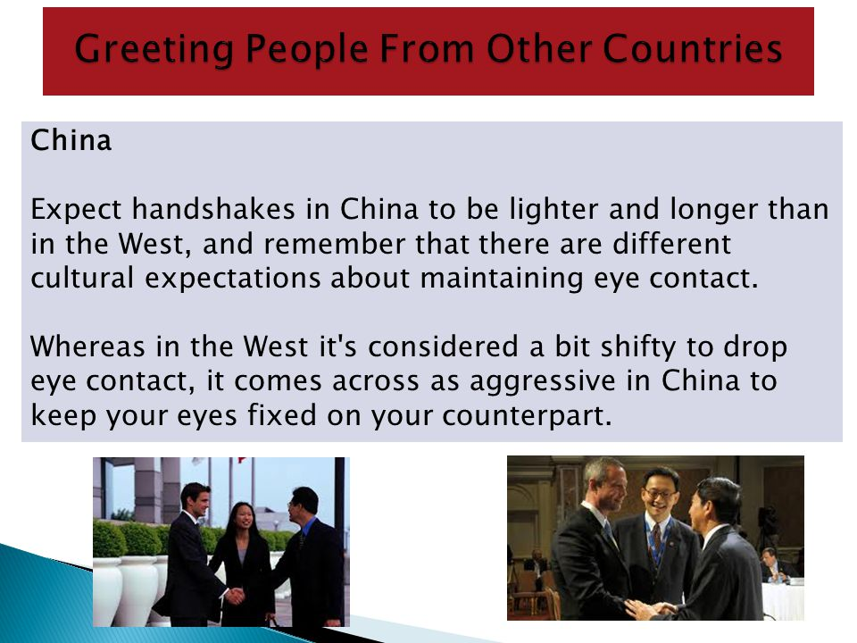 Greeting People From Other Countries