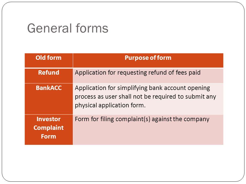 Investor Complaint Form