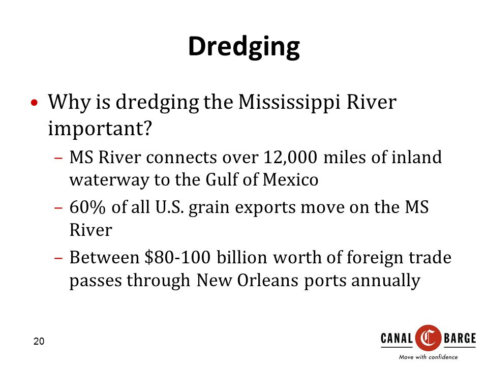 Dredging Why is dredging the Mississippi River important