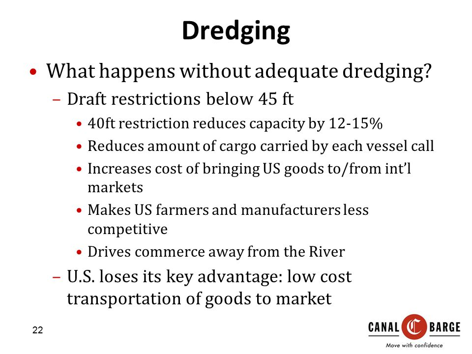 Dredging What happens without adequate dredging