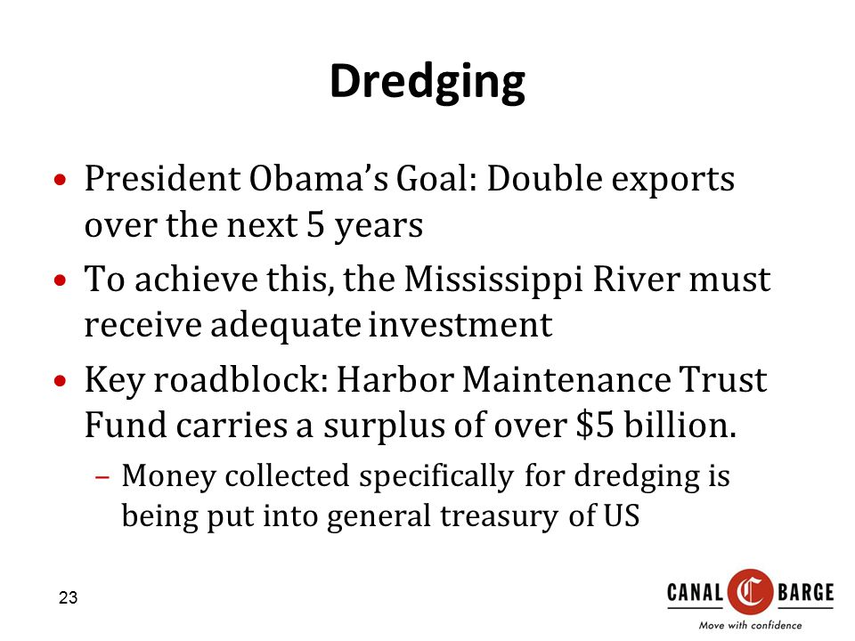 Dredging President Obama's Goal: Double exports over the next 5 years