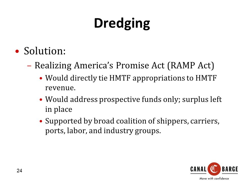 Dredging Solution: Realizing America's Promise Act (RAMP Act)