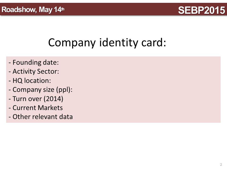 Company identity card:
