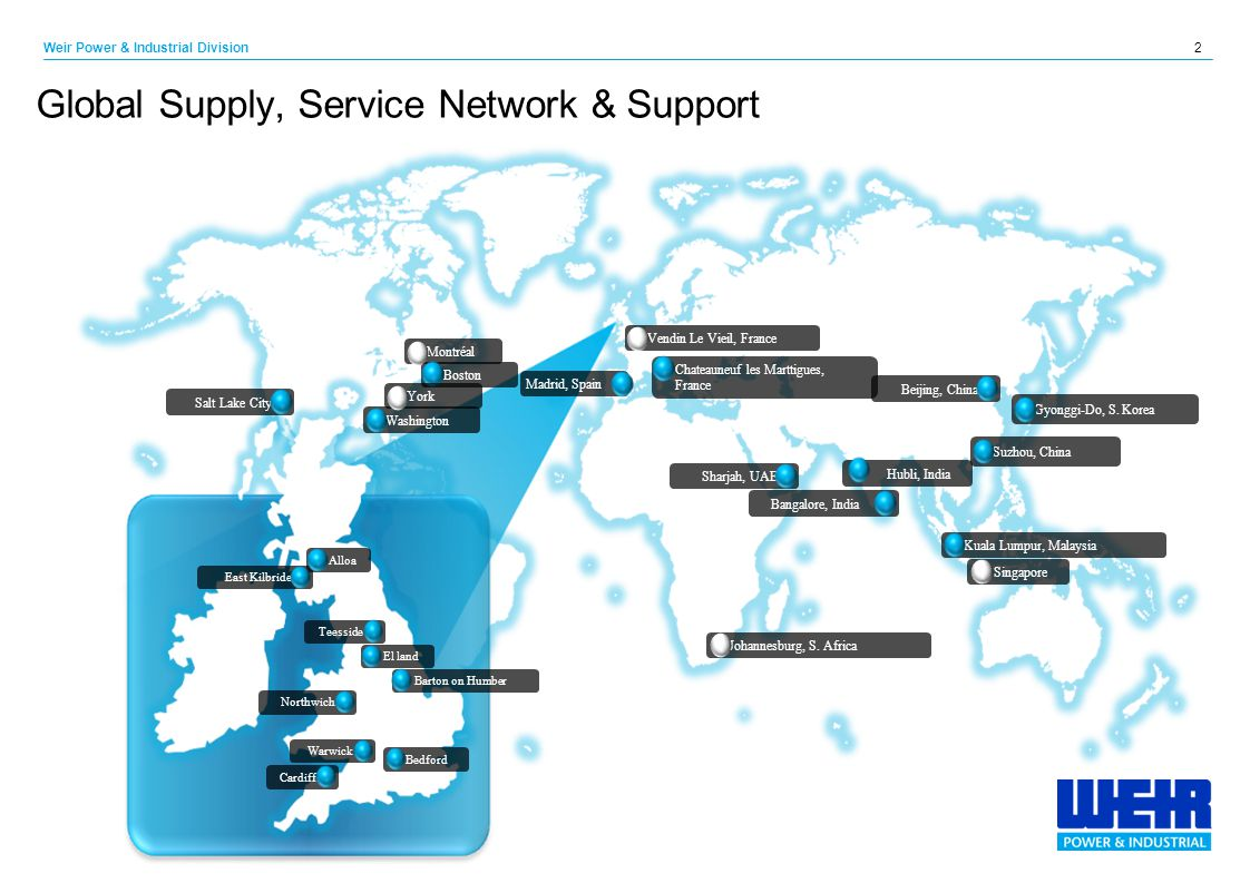 Global Supply, Service Network & Support