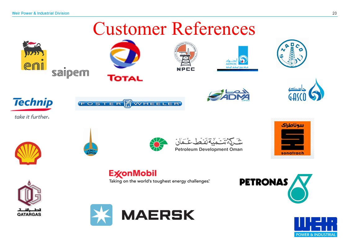 Customer References 20