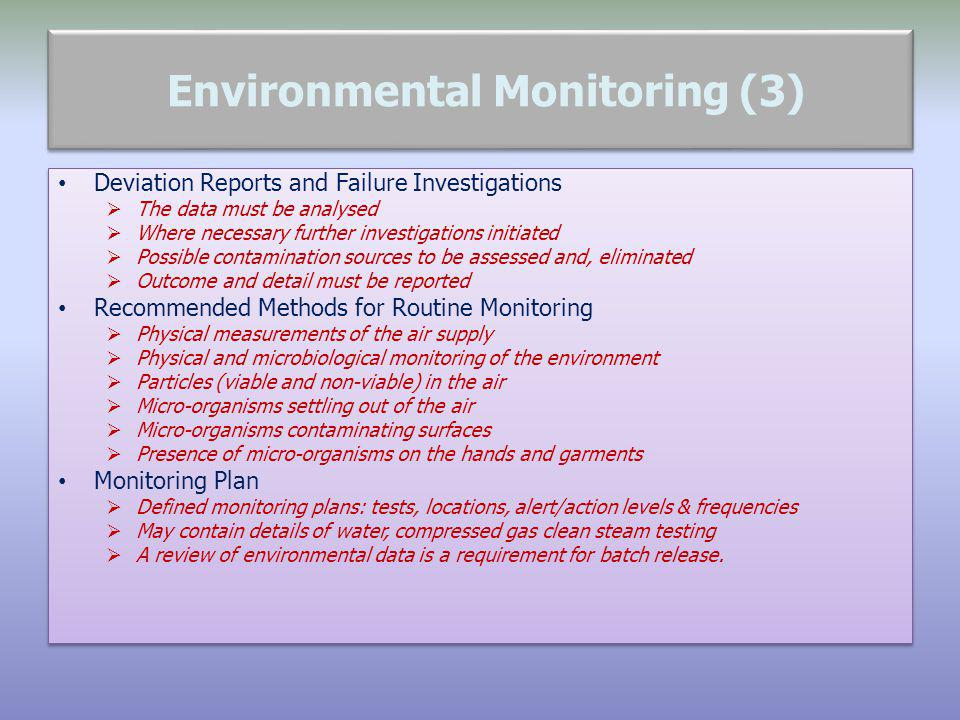 Environmental Monitoring (3)
