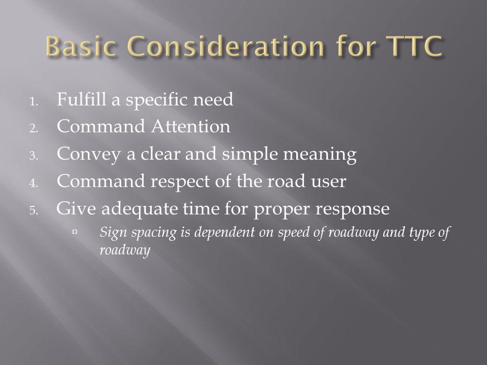 Basic Consideration for TTC