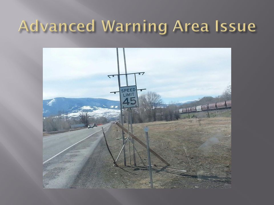 Advanced Warning Area Issue