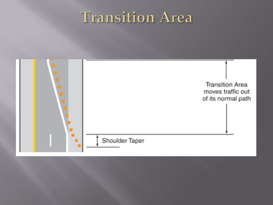 Transition Area 2. The transition area is that section where road users are redirected out of their.
