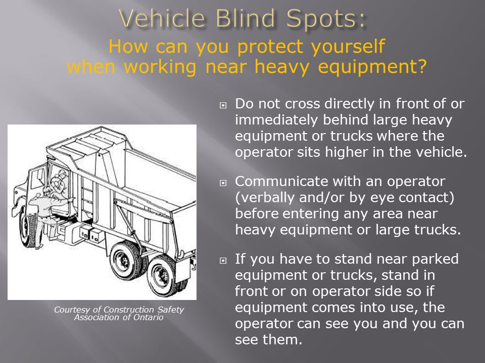 Vehicle Blind Spots: How can you protect yourself