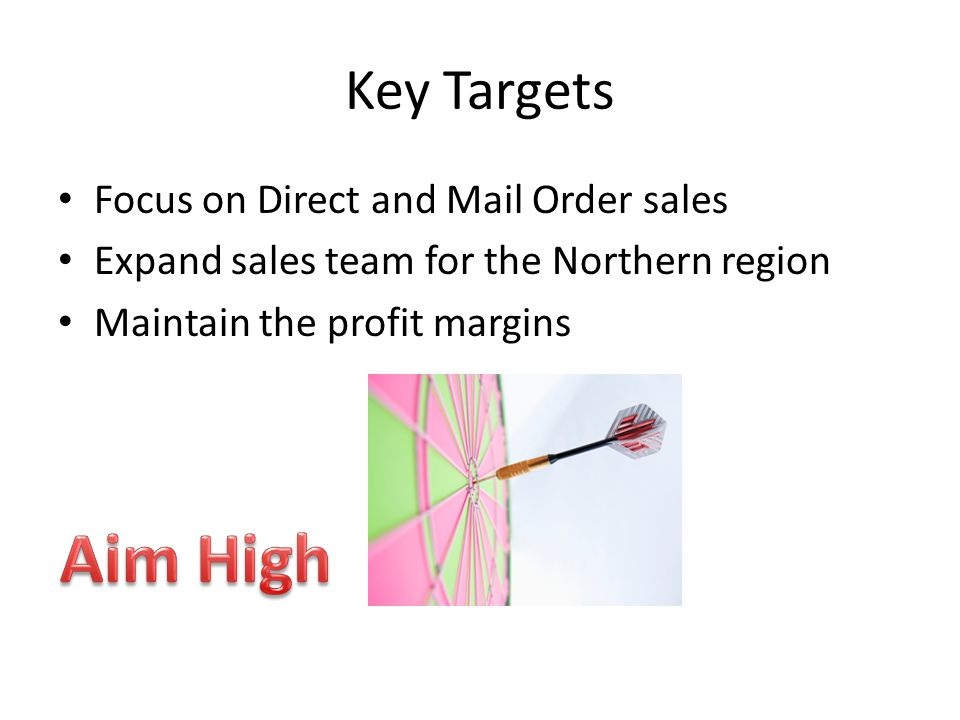 Aim High Key Targets Focus on Direct and Mail Order sales
