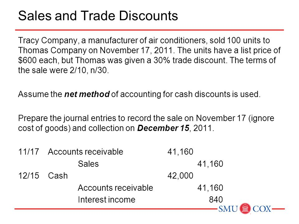 Sales and Trade Discounts