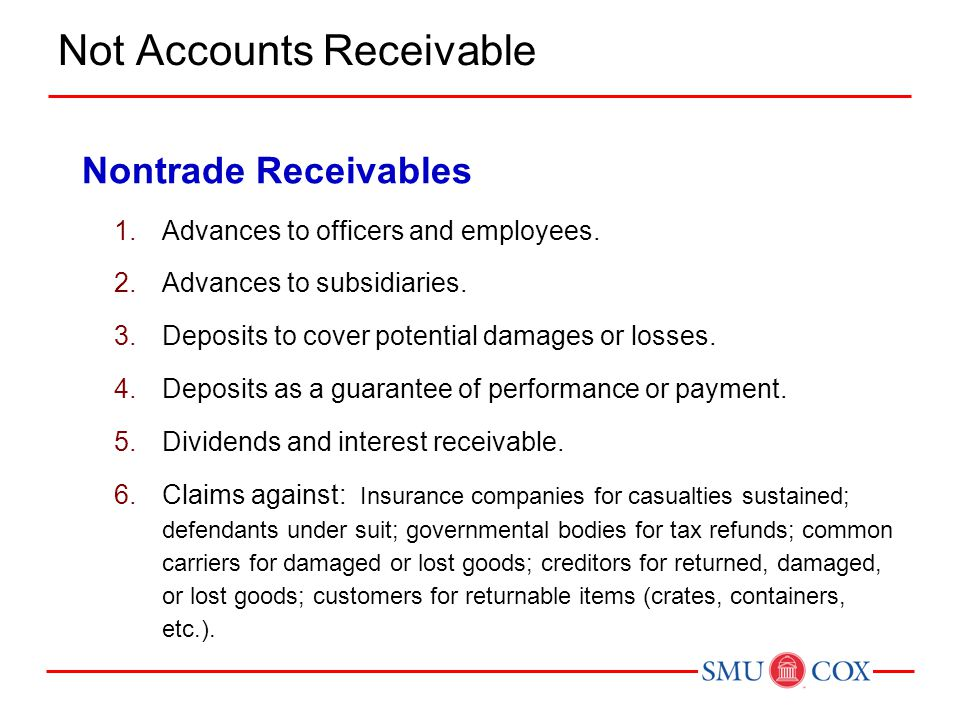 Not Accounts Receivable